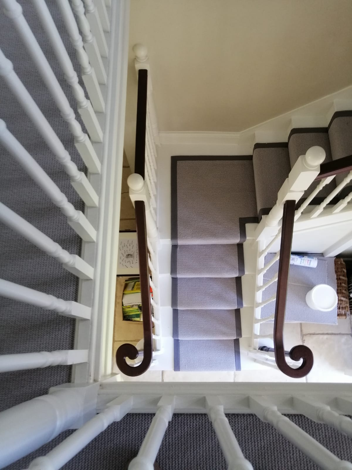 Picture looking down onto a staircase - a recent installation from Tech Floors London